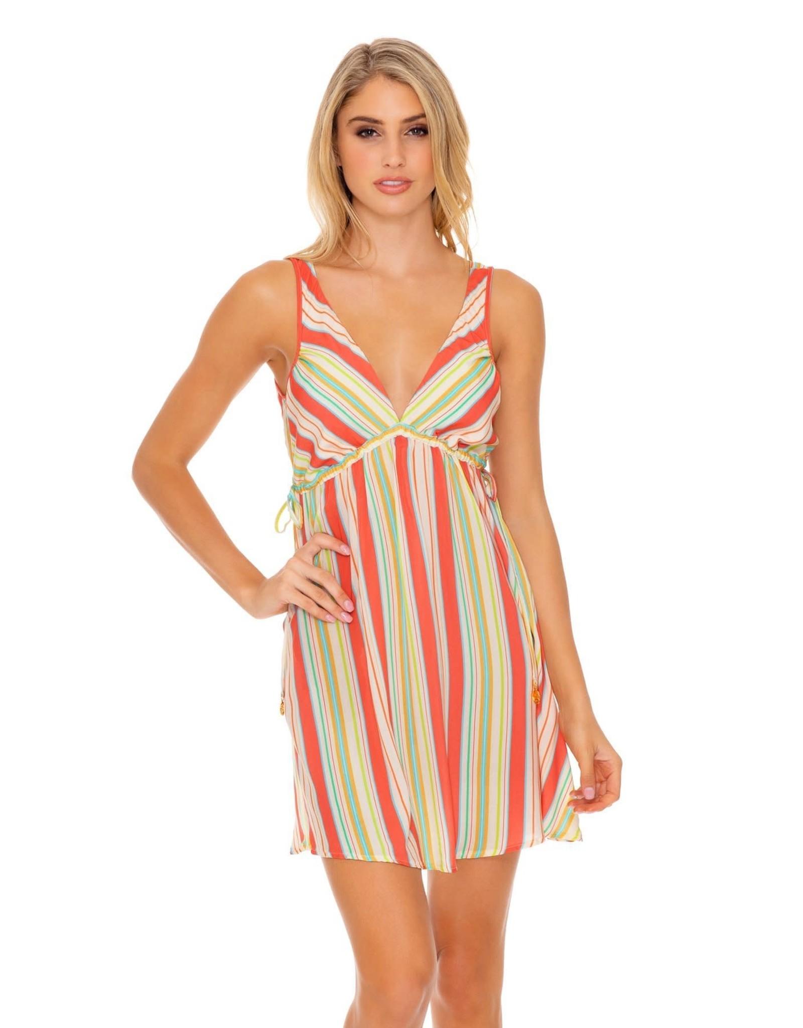 Luli Fama Play Time V-Neck Short Dress