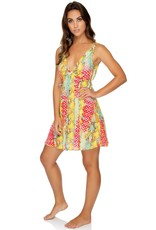 Luli Fama Smoke Show V-Neck Short Dress