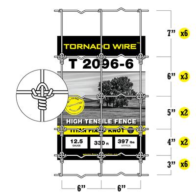 Tornado Wire 2096 TITAN FIXED KNOT HI TENSILE FENCE