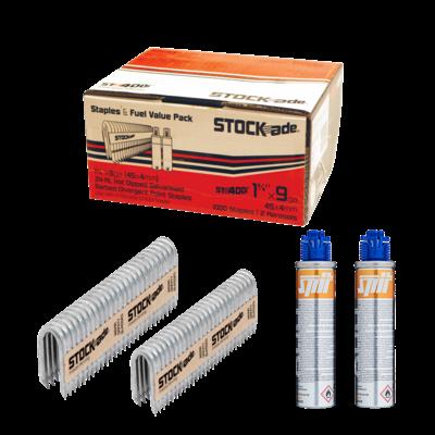 """Stockade Stockade 1 3/4"""" Staples with Gas box of 1000"""