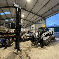 """P240T Skid Steer Post Driver With Pilot Auger (4"""" & 6"""")"""
