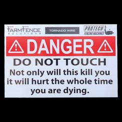 PROTECH WARNING LABEL - DEATH HURTS
