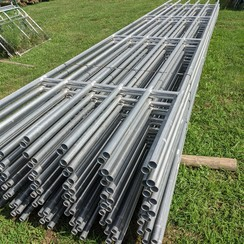 CONTINUOUS FENCE PANEL GALVANIZED 24 FT