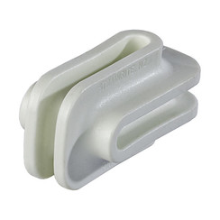 Hi Strain Bullnose Insulator-White (Single)
