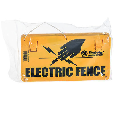 Strainrite Electric Fence Warning Sign