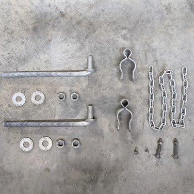 """Hinge Kit for 1-3/4"""" Gate- Galvanized"""
