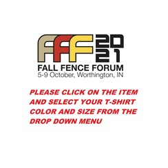 2021 FFF Registration (3 days) **Click to select T-Shirt options**