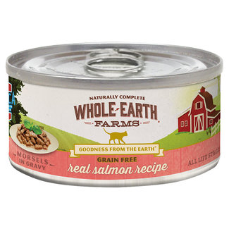 Whole Earth Farms 5oz Salmon Morsels in Gravy
