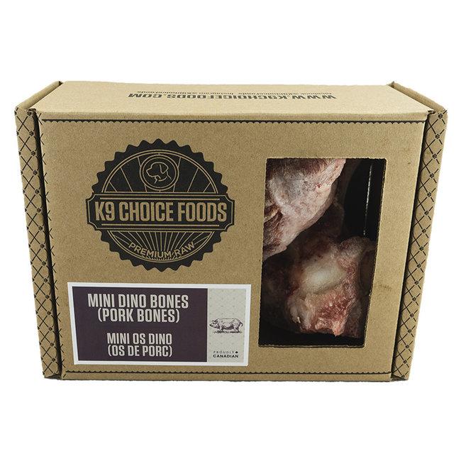 K-9 Choice 3pk Mini Pork Dino Bones