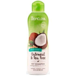 Tropiclean 20oz Medicated Oatmeal & Tea Tree Shampoo
