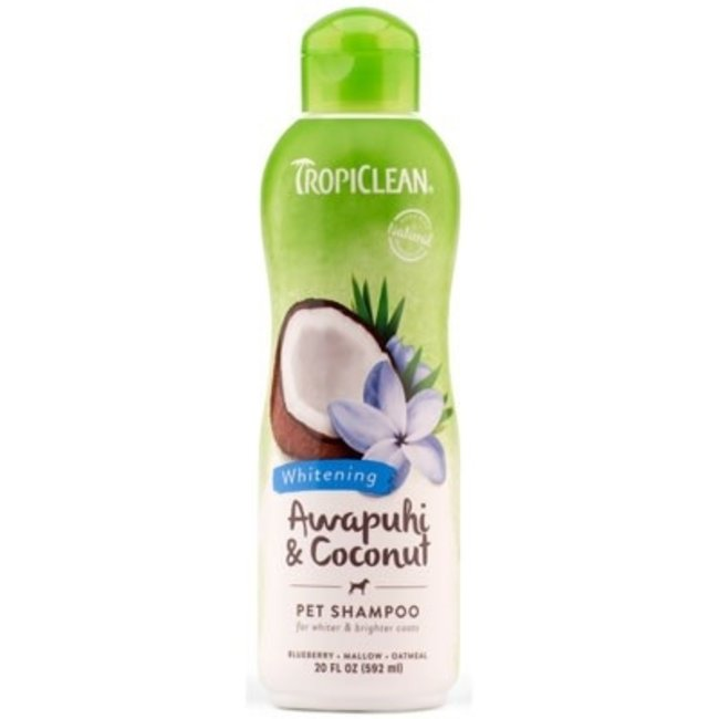 Tropiclean 20oz Awapuhi & Coconut Whitening Shampoo