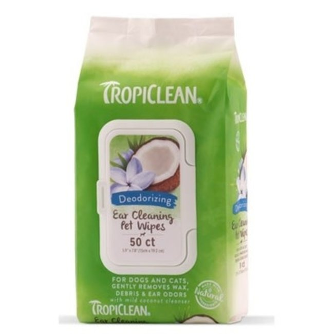 Tropiclean 50 count  Ear Cleaning Wipes