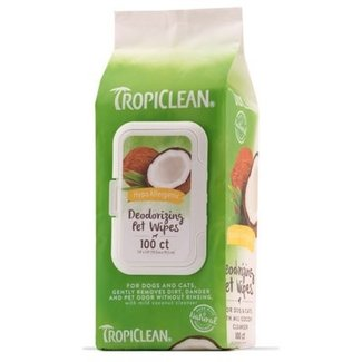 Tropiclean 100 count Hypoallergenic Deodorizing Wipes