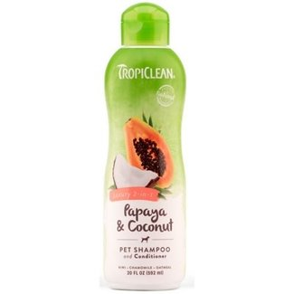 Tropiclean 20oz Papaya  & Coconut 2 in 1