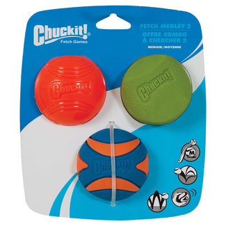Chuck -It Med Fetch Medley 2 3Pk