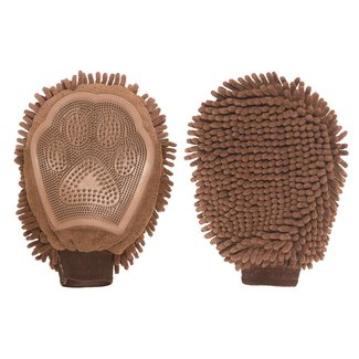 Dog Gone Smart Brown Grooming Mitt