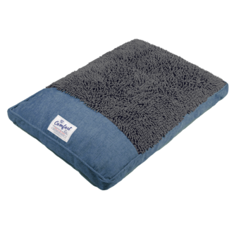 "Happy Tails 40x28"" Slate Blue Bed"