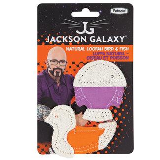 Jackson Galaxy Natural Loofah Bird & Fish