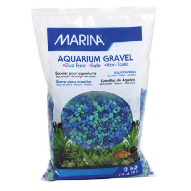 Marina 2 kg Blue & Green Gravel