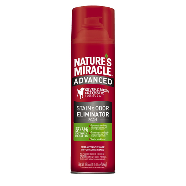 Natures Miracle 17.5oz Dog  Foam Stain & Odor Cleaning
