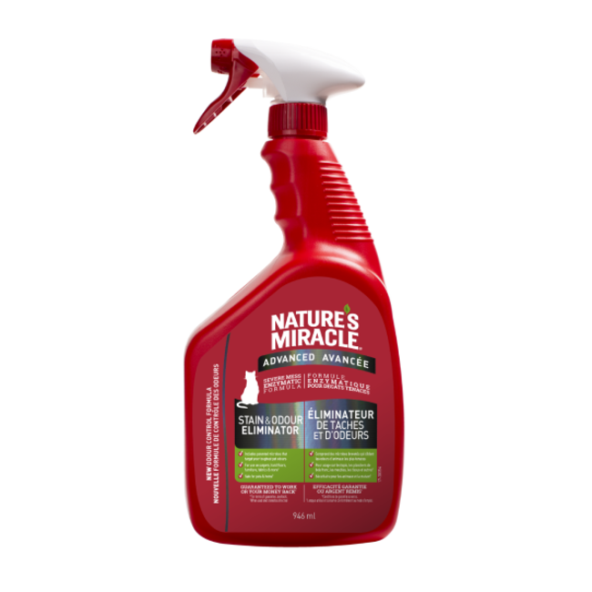 Natures Miracle 946ml Cat Stain Remover & Odor Eliminator