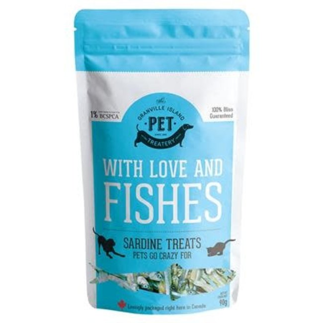 Granville Island Pet Treatery With Love & Fishes Sardine Treats