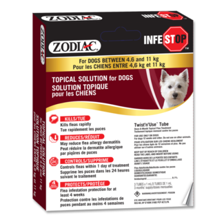 Zodiac Infestop Dogs 4.6 kg to 11 kg