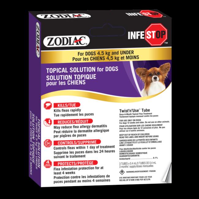 Zodiac Infestop Dogs Under 4.5 kg
