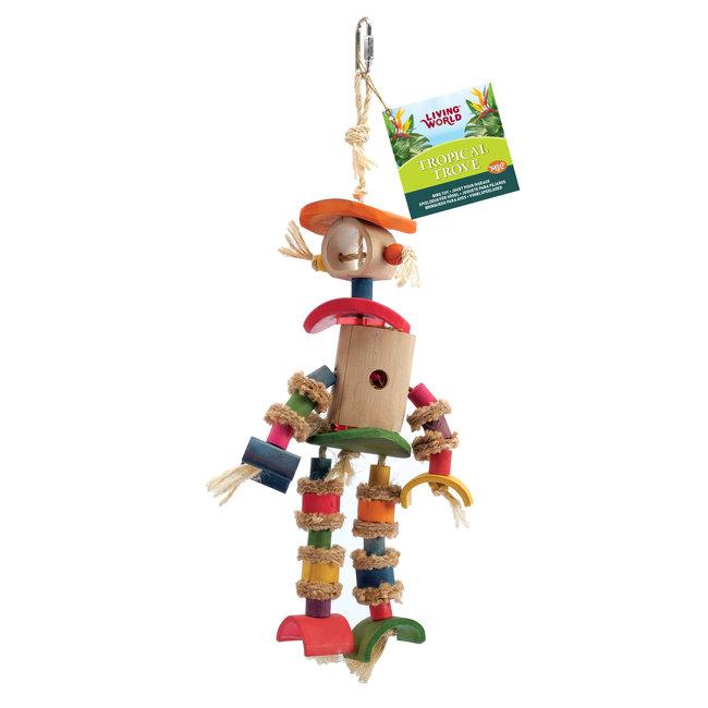 Living World Tropical Trove Bamboo Man Bird Toy