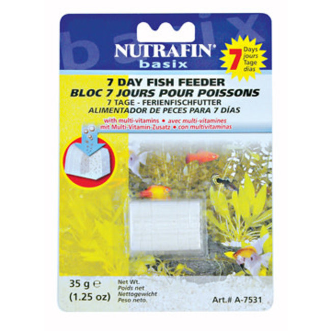 Nutrafin 35g Basix 7 Day Fish Feeder