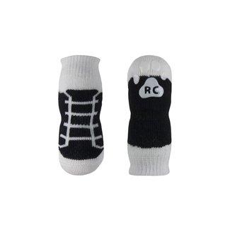 RC Pets Pawks-Black Sneaker Dog Socks  (4 Pack)