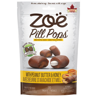 Zoe 100g Pill Pops -Peanut Butter with Honey