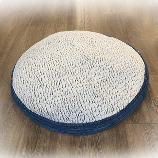 "Pure Comfort ""36 Blue Accented Round Bed"