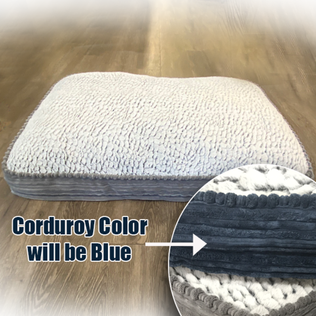 """Pure Comfort 30x40"""" Blue Accented Napper Bed"""