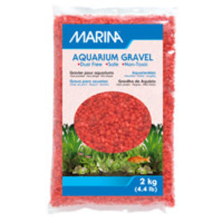 Marina 2 KG Orange Decorative Aquarium Gravel