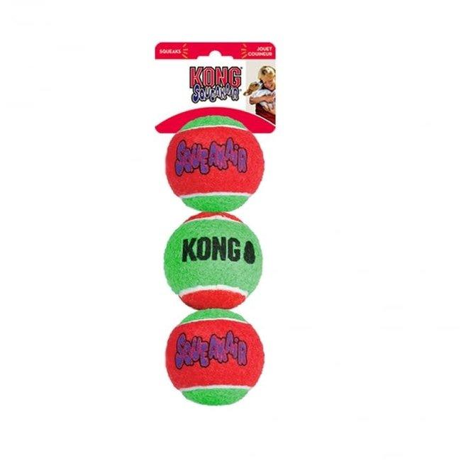 Kong 3 PK Holiday Med Air Ball Squeaker