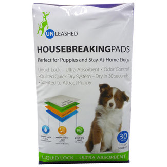 Unleashed 30 Pack  Housebreaking Pads