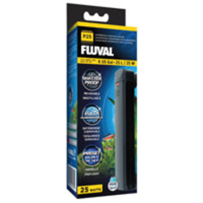 Fluval 25 Watt (6 Gal) Submersible Submersible Aquarium Heater