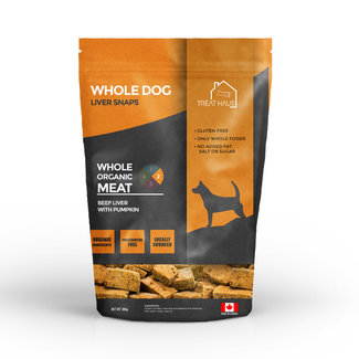 Treat Haus 380g Whole Dog Liver Snaps Beef Liver with Pumpkin