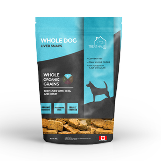 Treat Haus 380g Whole Dog Liver Snaps Beef Liver  with Chia & Hemp