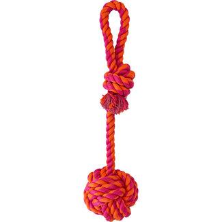 Knotty & Nice Orange & Pink Rope Ball Loop Handle