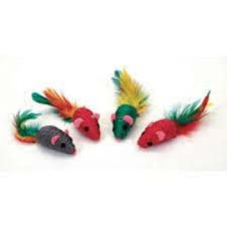 Burgham 4 Pack of Feather Mice