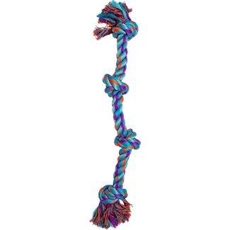 "Bones & Arrows 23.5"" Cotton & Nylon Four Knot Rope Bone Aqua"