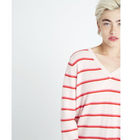 jumper 1234 boyfriend stripe v sweater