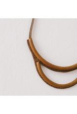 crescioni arc necklace saddle brown