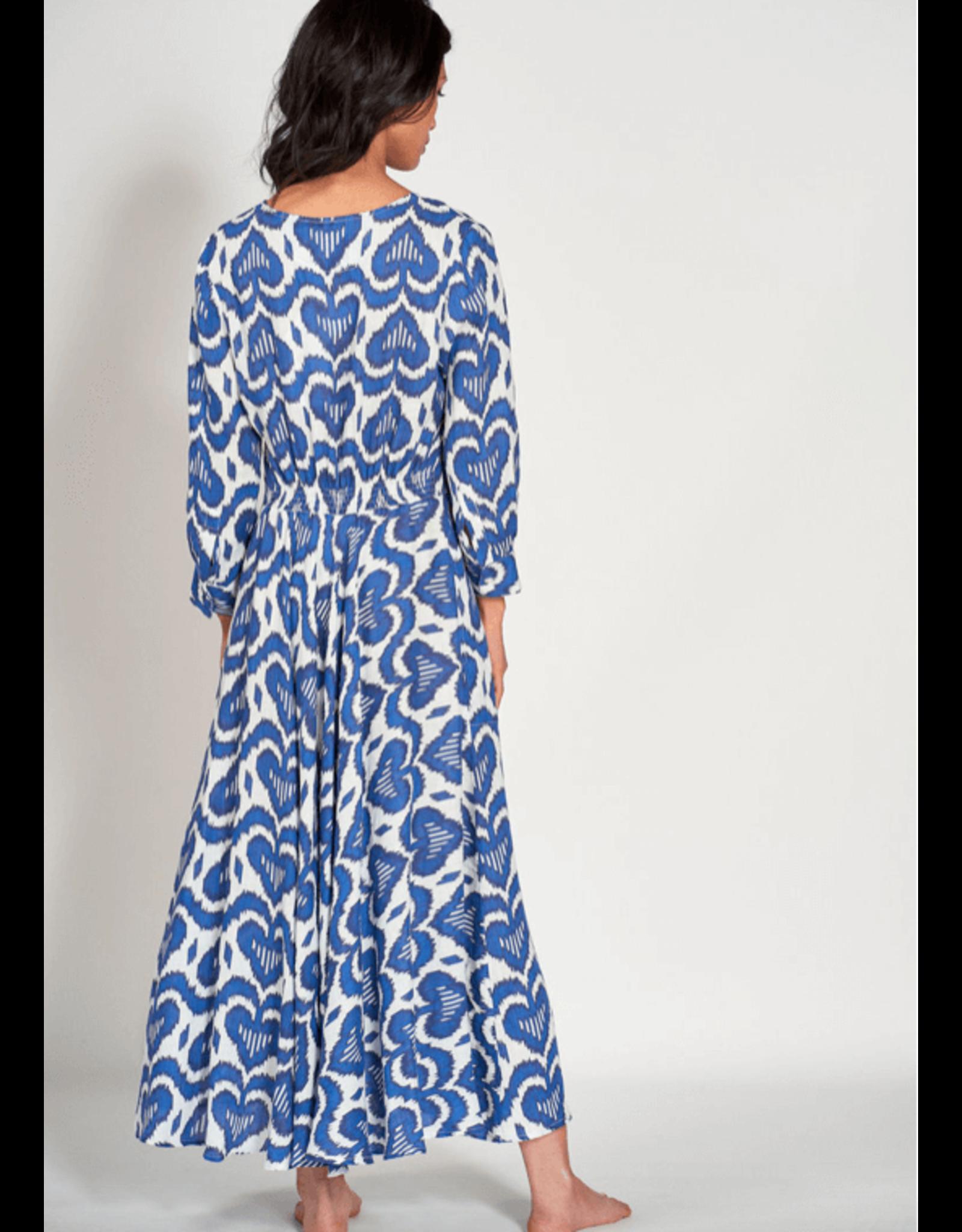 nimo azurite linen dress