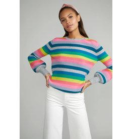 wyse giselle rainbow rib sweater