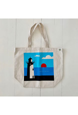 magnetic north MN lighthouse tote bag