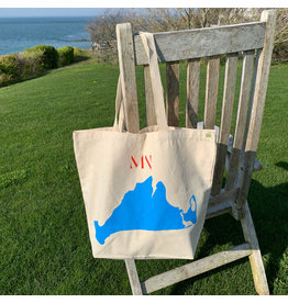 magnetic north MN island tote bag