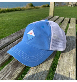 magnetic north MN trucker hat mallet blue